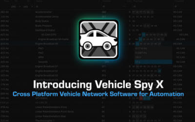Introducing Vehicle Spy X: Cross Platform Vehicle Network Software for Automation